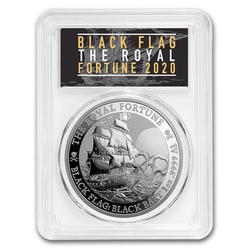 1 $ Dollar Black Flag - The Royal Fortune Tuvalu PCGS MS-70 First Strike 1 oz Silber 2020 **