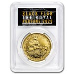 100 $ Dollar Black Flag - - The Royal Fortune PCGS MS-70 First Strike Tuvalu 1 oz Gold BU 2020