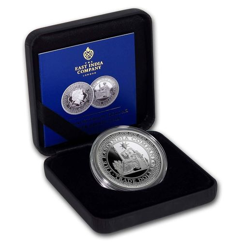 1 $ Dollar Silver French Trade Dollar Proof High Relief Niue Island 1 oz Silber PP 2020 **