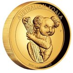 100 $ Dollar Koala High Relief Australien 1 oz Gold PP 2020