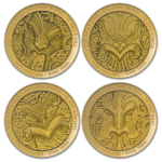 4 x 5 Dollar Nga Hau e Wha - The Four Winds Gold Coin Set Neuseeland 4 x 1/4 oz Gold PP 2020 **