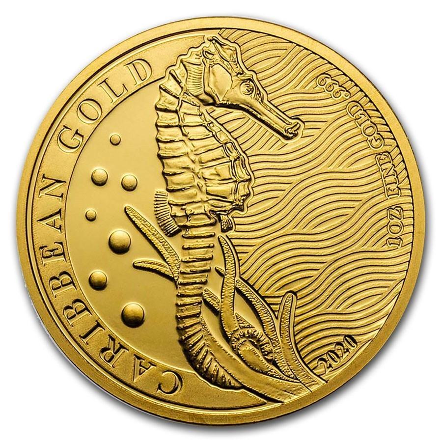 Silber DEUTSCHER M/ÜNZEXPRESS Seepferdchen Barbados 2020 Anlagem/ünze
