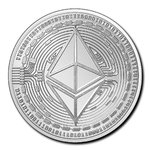5000 Francs Crypto Coin Series - Kryptowährungen Ethereum Tschad Chad 1 oz Silber 2020 **