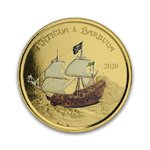 10 $ Dollar EC8 - Eastern Caribbean 8 - Rum Runner Antigua & Barbuda 1 oz Gold PP 2020