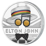 2 Pounds Pfund Music Legends - Elton John Grossbritannien UK 1 oz Silber PP 2020