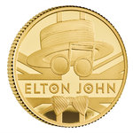 25 Pounds Pfund Music Legends - Elton John Grossbritannien UK 1/4 oz Gold PP 2020