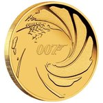 25 $ Dollar James Bond - 007 Tuvalu 1/4 oz Gold PP 2020