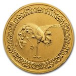 250 $ Dollar Feng Shui - Celestial Animals - The Red Phoenix Niue Island 1 oz Gold 2020