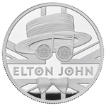10 Pounds Pfund Music Legends - Elton John Grossbritannien UK 5 oz Silber PP 2020
