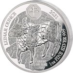 50 Francs Lunar Ounce Year of the Ox - Ochse Ruanda 1 oz Silber PP 2021