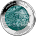 25 Dollar Pioneers of Aviation - Wright Brothers - Mother of Pearl Solomon Islands 5 oz Silber 2021