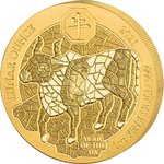 100 Francs Lunar Ounce Year of the Ox - Ochse Ruanda 1 oz Gold BU 2021