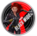 1 $ Dollar Marvel Series - Black Widow Silver Proof Fiji 1 oz Silber PP 2020 **