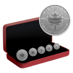 15 $ Dollar Silver Maple Leaf 5-Coin Fractional Set Pulsating - The Maple Tree Kanada Silber 2021 **
