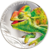 5 $ Dollar Magnificent Chameleon - Chamäleon High Relief Cook Islands 1 oz Silber PP 2020 **