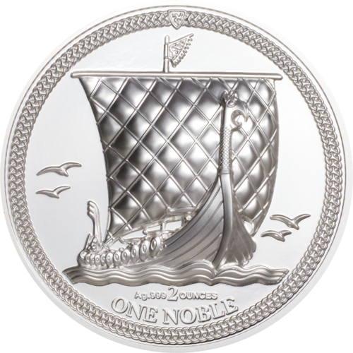 1 Noble Isle of Man Piedfort Ultra High Relief 2 oz Silber PP 2020 **