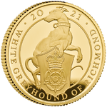 25 Pfund Pounds Queen's Beasts White Greyhound of Richmond Grossbritannien UK 1/4 oz Gold PP 2021