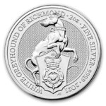 5 Pfund Pounds The Queen's Beasts The White Greyhound Grossbritannien UK 2 oz Silber 2021 **