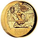 100 $ Dollar Winged Victory High Relief Australien 1 oz Gold PP 2021
