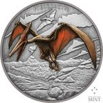 2 $ Dollar Dinosaur - Dinosaurier Collection Pterodactyl Niue Island 1 oz Silber 2020 **