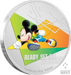 2 $ Dollar Disney Mickey Mouse Sports - Ready Set Go! Niue Island 1 oz Silber PP 2020 **