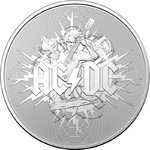 1 $ Dollar AC/DC Australien 1 oz Silber Frosted Uncirculated 2021 **