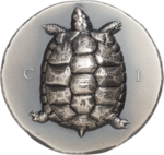 5 $ Dollar Tortiose - Turtle - Schildkröte Cook Islands 1 oz Silber Antique Finish 2020 **