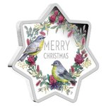 1 $ Dollar Christmas Star Shaped - Weihnachten Australien 1 oz Silber PP 2020 **