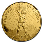 1 oz Gold - 7 Wonders of the Ancient World - Colossus of Rhodes - Koloss von Rhodos 1 oz Gold BU