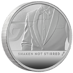 5 Pounds Pfund James Bond 007 - Shaken Not Stirred Grossbritannien UK 2 oz Silber PP 2020 **