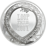 5 $ Dollar Loop the Loop - Roller Coaster Achterbahn Cook Islands High Relief 1 oz PP Silber 2021 **