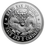 Kiangnan Chinese Dragon Dollar Restrike China 1 Kilo kg Silber Premium Uncirculated 2020
