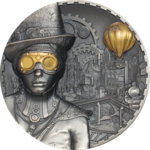 20 $ Dollar Steampunk Cook Islands Ultra High Relief 3 oz Silber 2020 **