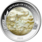 25 Dollar 150 Years of Charles Bridge - Karlsbrücke Mother of Pearl Solomon Islands 5 oz Silber 2020