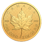 200 $ Dollar The Classical Maple Leaf Kanada 2 oz Gold Reverse Proof 2021