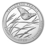 America the Beautiful ATB Tallgrass Prairie National Preserve Kansas USA 5 oz Silber 2020 **