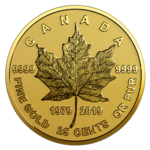 25 Cents 40th Anniversary - 40 Jahre Gold Maple Leaf Kanada Gold Reverse Proof 2019