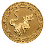 250 $ Dollar Feng Shui - Celestial Animals - The Yellow Snake Niue Island 1 oz Gold 2020