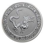 2 $ Dollar Feng Shui - Celestial Animals - The Yellow Snake Niue Island 1 oz Silber 2020 **