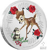2 $ Dollar Disney Weihnachten Season's Greetings Bambi Niue Island 1 oz Silber 2020 **