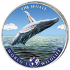 20 Francs World's Wildlife - Humpback Whale - Buckelwal - Farbe Kongo Congo 1 oz Silber 2020 **