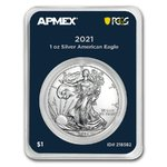1 Dollar Silver American Eagle USA Apmex MintDirect® Premier + PCGS First Strike 1 oz Silber 2021 **