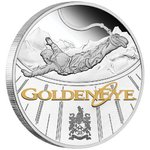 1 $ Dollar James Bond - 007 - 25th Anniversary GoldenEye Tuvalu 1 oz Silber PP 2020 **