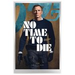 James Bond - 007 - No Time To Die Movie Poster - Silver Foil 35 Gramm Silber 2020