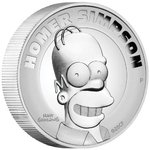 2 Dollar The Simpsons - Homer Simpson High Relief Tuvalu 2 oz Silber PP 2021 **