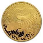 100 $ Dollar Flying Fish - Fliegende Fische - Hahave - Tokelau 1 oz Gold 2020