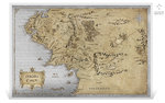 2 Dollar Lord of the Rings™ Middle Earth™ Map - Herr der Ringe Karte Niue Island Silber 2021 **