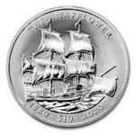 10 $ Dollar 400th Anniv. Mayflower BVI British Virgin Islands Ultra High Relief 2 oz Silber 2020 **