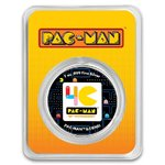 2 $ Dollar 40th Anniversary PAC-MAN™ Colorized Silver Niue Island 1 oz Silber 2020 **