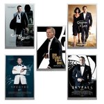 5 x James Bond - 007 - Movie Poster Collection - Filmposter Set Silver Foil 5 x 5 Gramm Silber 2020